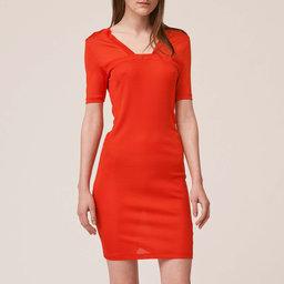 Rib Slash Dress