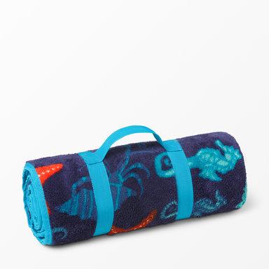 Picknickfilt med korallmotiv 120×150 cm