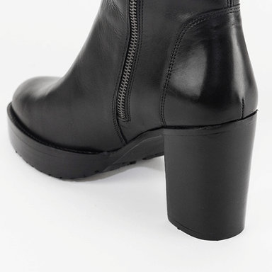 Chunky Boot Nappa Blk