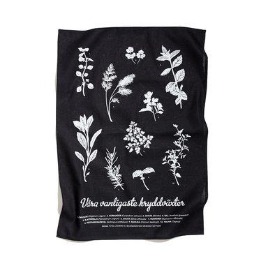 Kökshandduk Kryddväxter