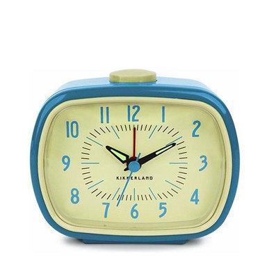 Clock Blue Retro Alarm