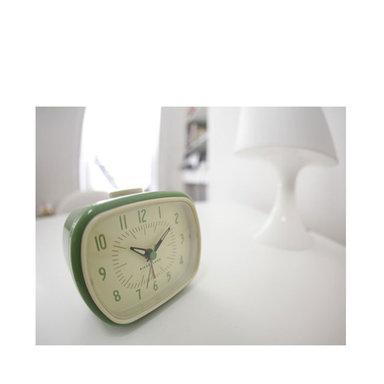 Clock Green Retro Alarm