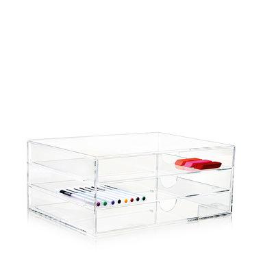 Förvaringsbox Clear 3-Drawer A4