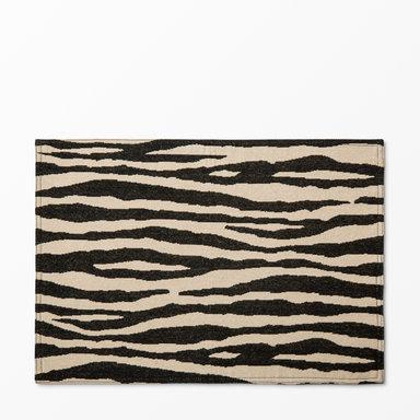 Tablett zebra, 34x48 cm