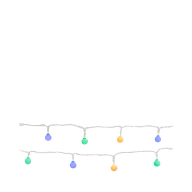 Blue multicolor pop string lights