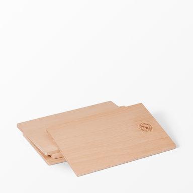 Skärbräda i trä 22×14 cm 4-pack