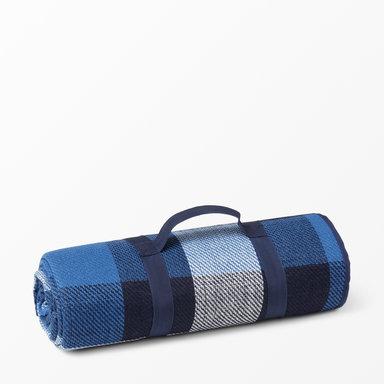 Picknickfilt rutig 175×175 cm
