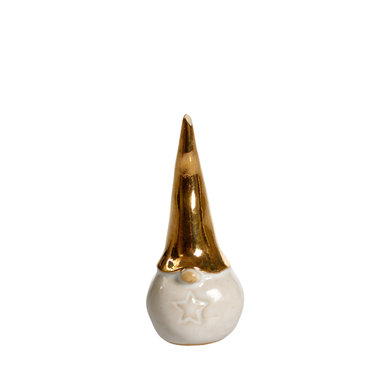 Tomte Guld stjärna 6 cm