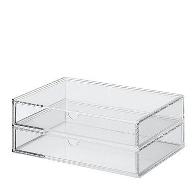Stapelbar box Acrylic Box Wide 2 fack