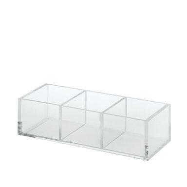 Acrylic Desk Pot – 3 Partitions