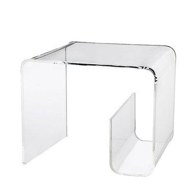 Acrylic Table With Magazine Rack