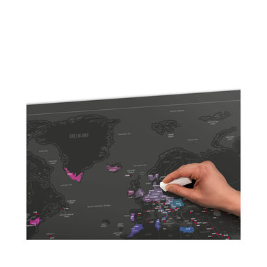 Poster Scratch Map Huvudstäder