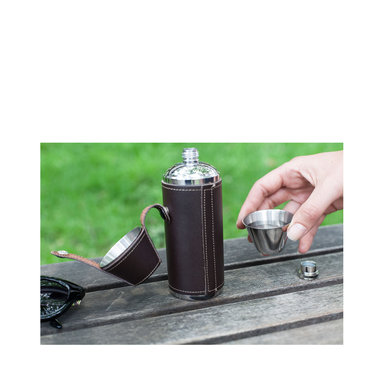 Camping Leather Flask Set