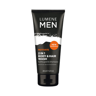 Lumene Men Motivate 2in1 Body&Hair Wash 200 ml