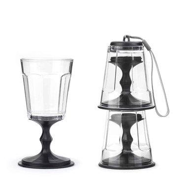 Stacking wine glass Black