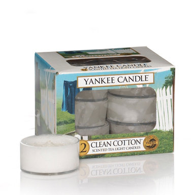 Clean Cotton Scented Tea Lights Candle