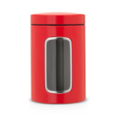 Förvaringsburk 14L med fönsterlock Passion Red