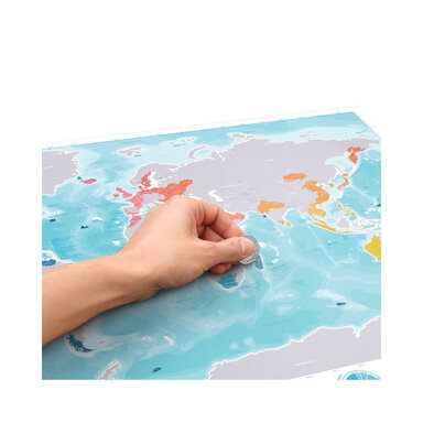 Poster Scratch Map Hav
