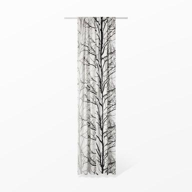 Gardin Pilträd med veckband 120×240 cm