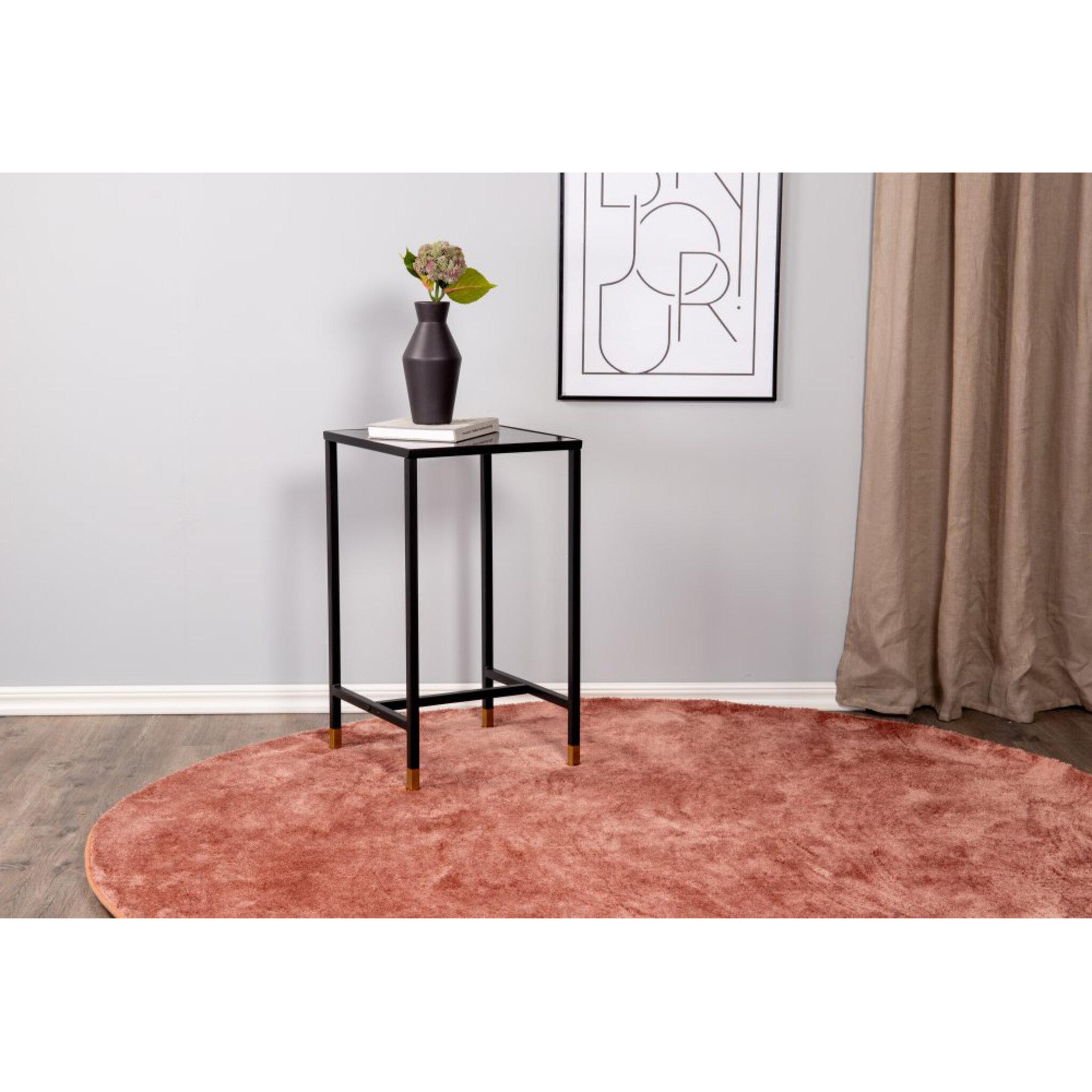 Sängbord Dipp 40cm - marmorglas/svart/mässing
