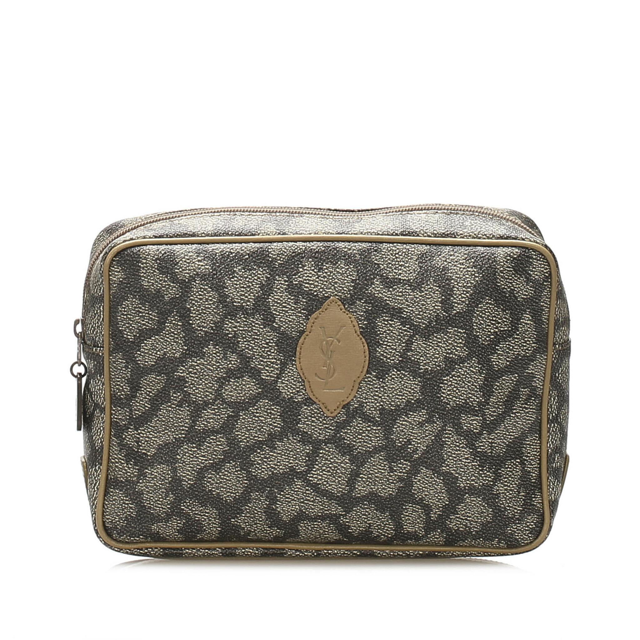 Ysl Printed Leather Clutch Bag