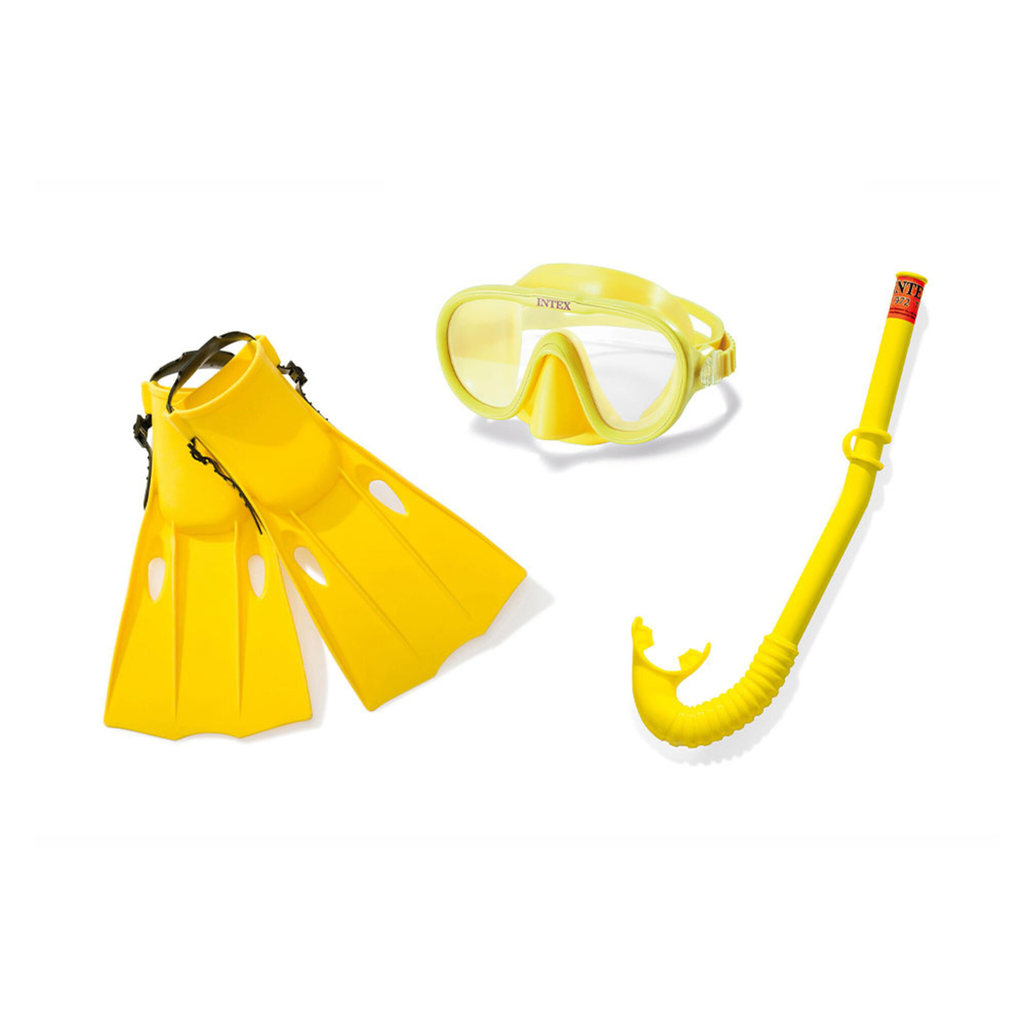 Snorkelset 3 delar - cyklop, snorkel och fenor strl 35-39