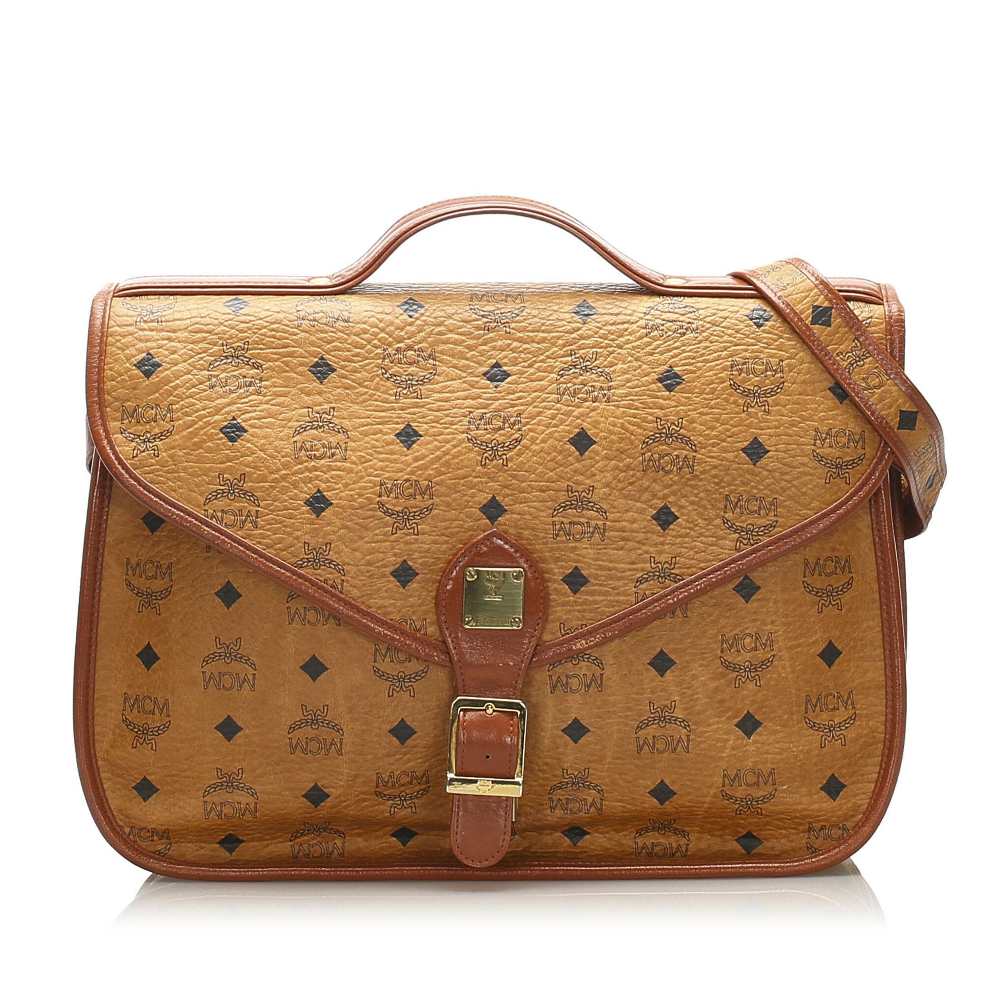 Mcm Visetos Leather Satchel