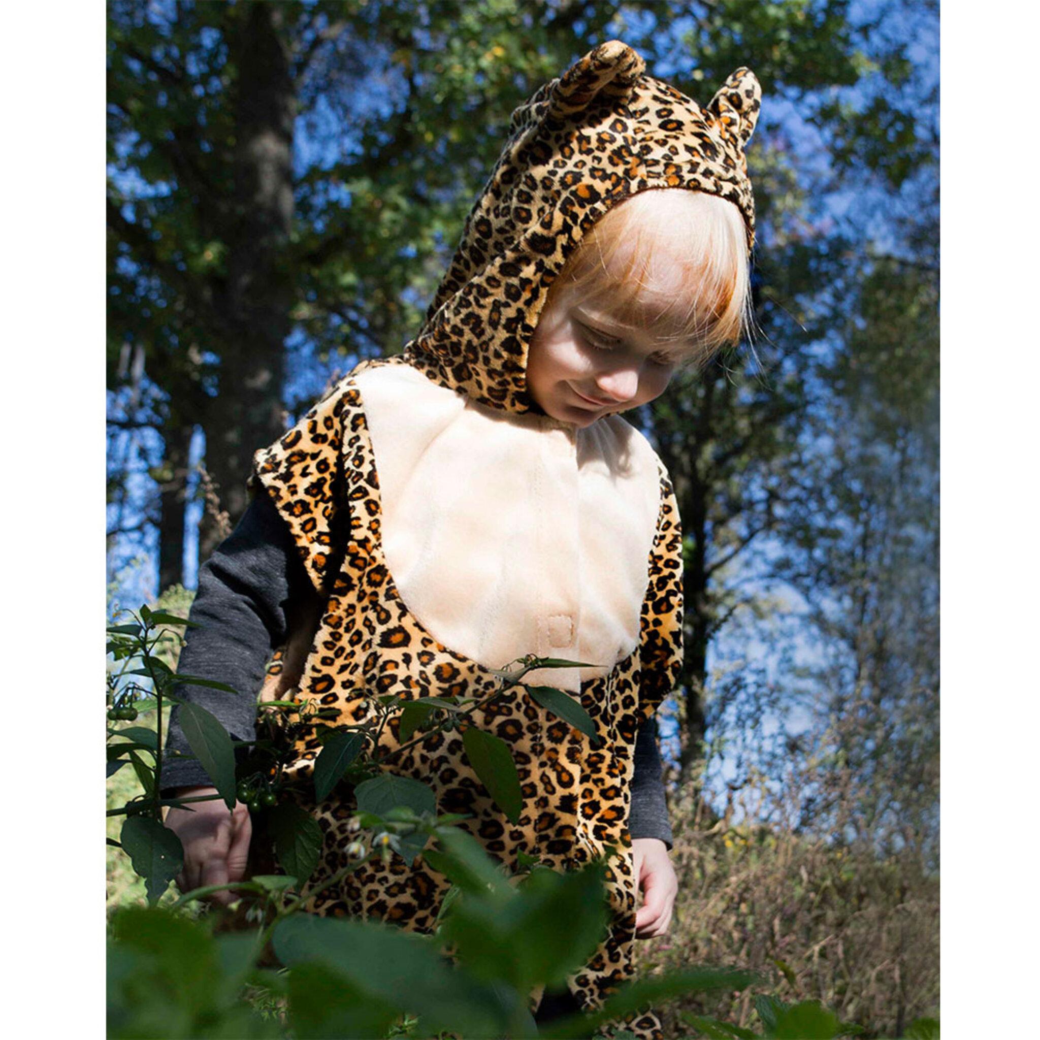 Leoparddräkt, cape med huva 2-4 år