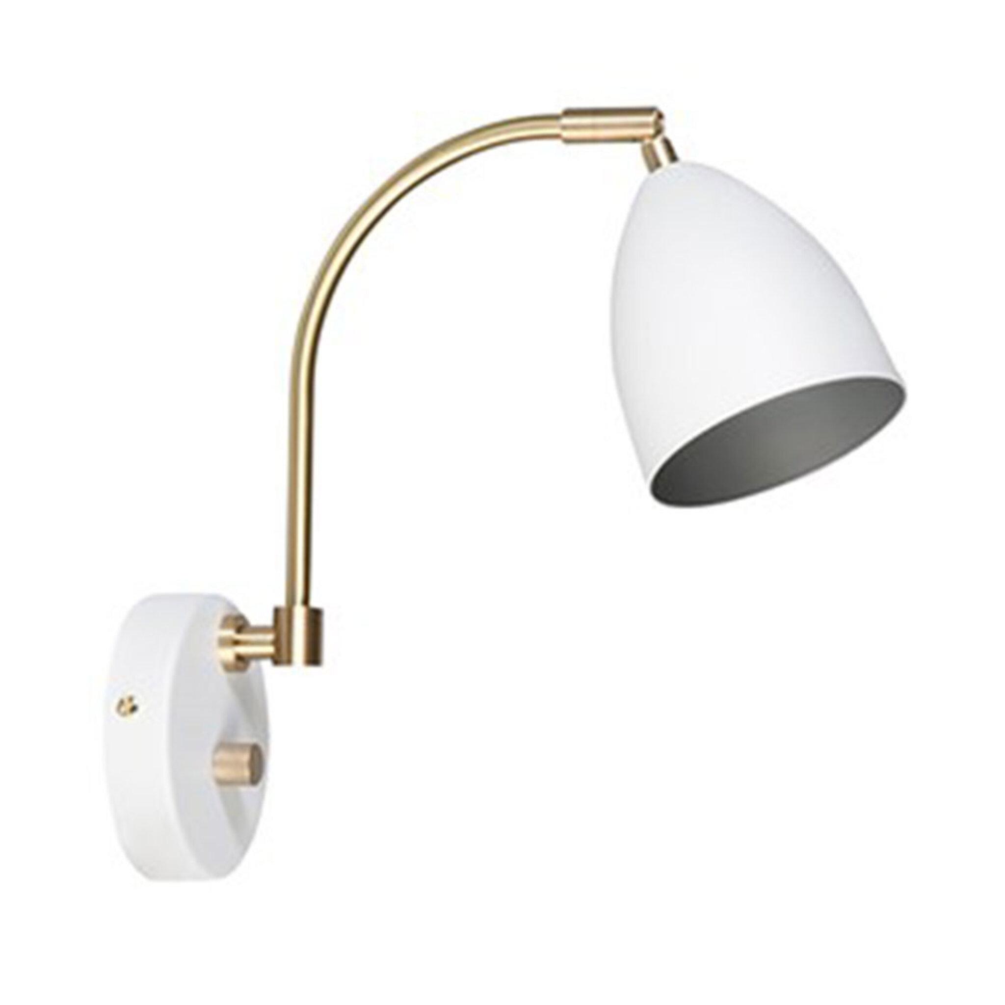 Vägglampa Deluxe LED, vit/mässing thumbnail