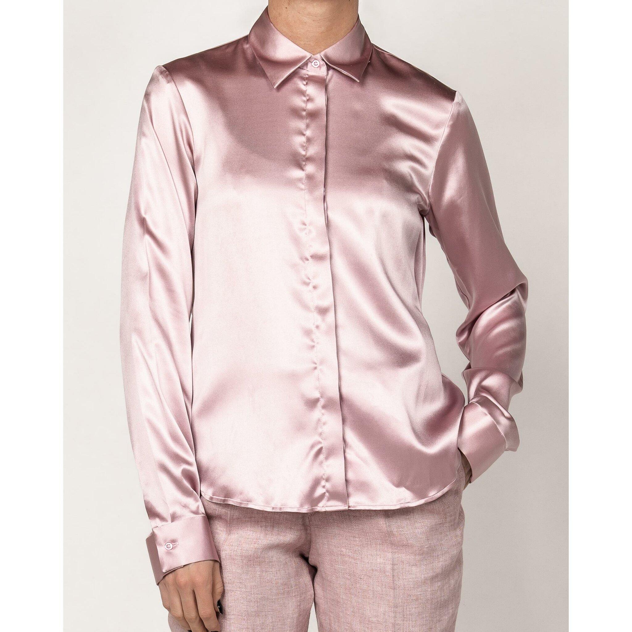 Lds Blouse Luna Pink Silk
