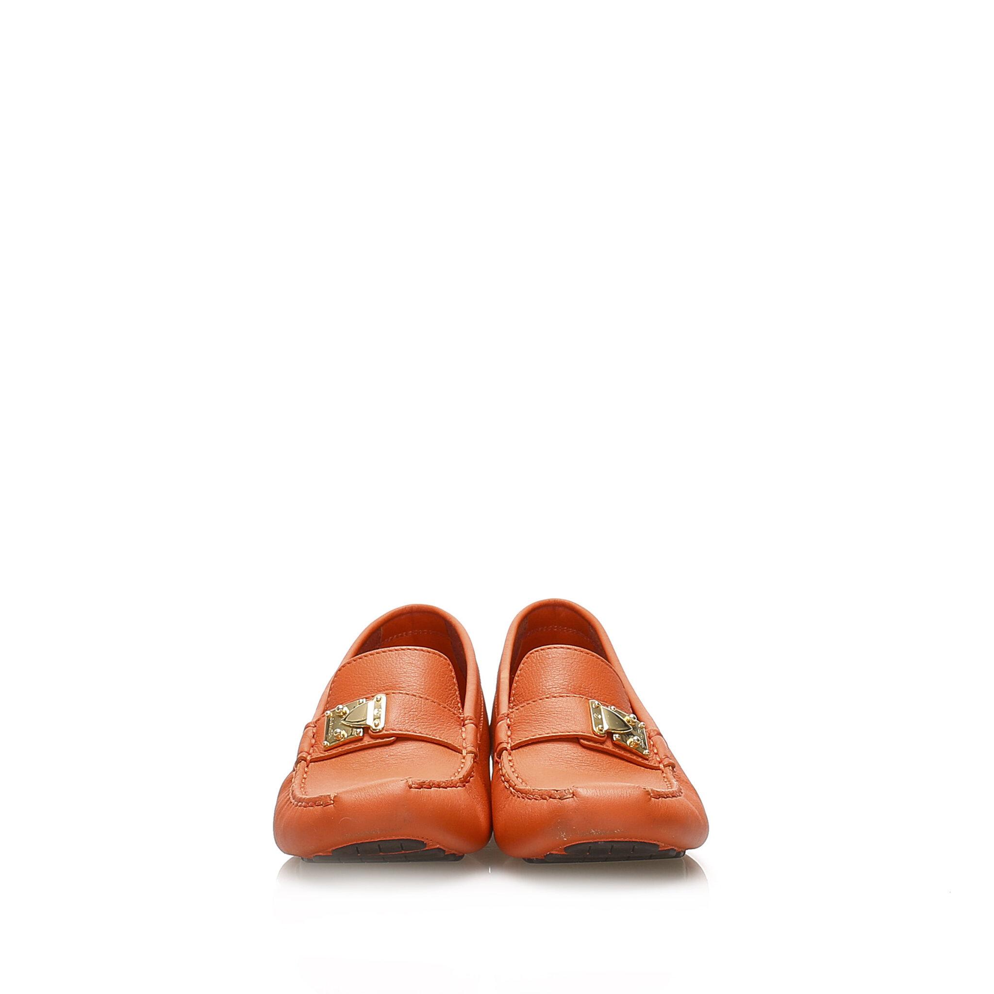 Louis Vuitton Driving Leather Shoes, 39