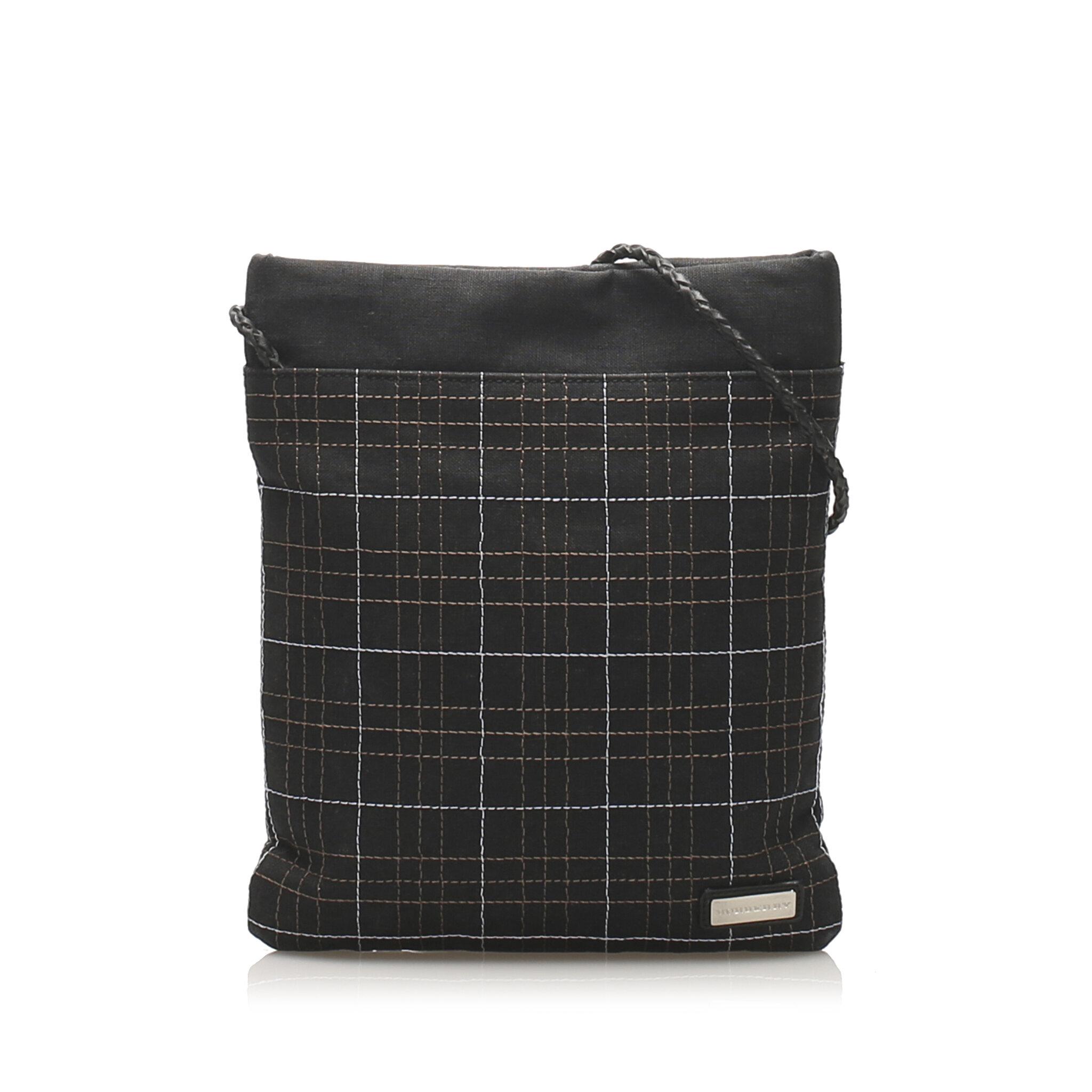 Burberry Vintage Check Canvas Shoulder Bag