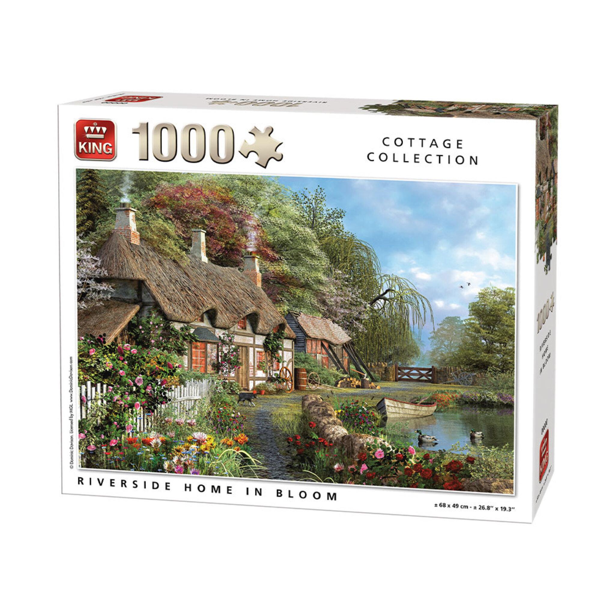 Pussel 1000 bitar - Riverside Home in Bloom