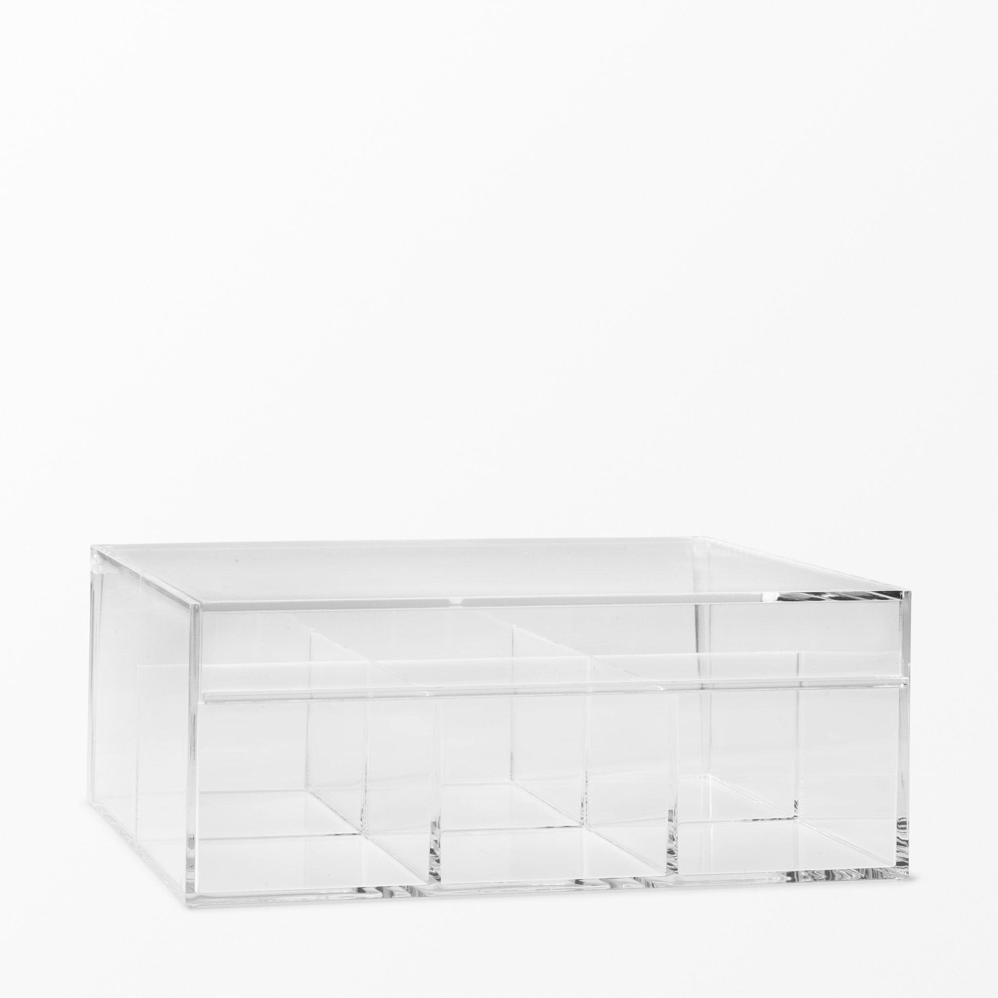 Förvaringsask i akryl, 21,6x8,5x17 cm