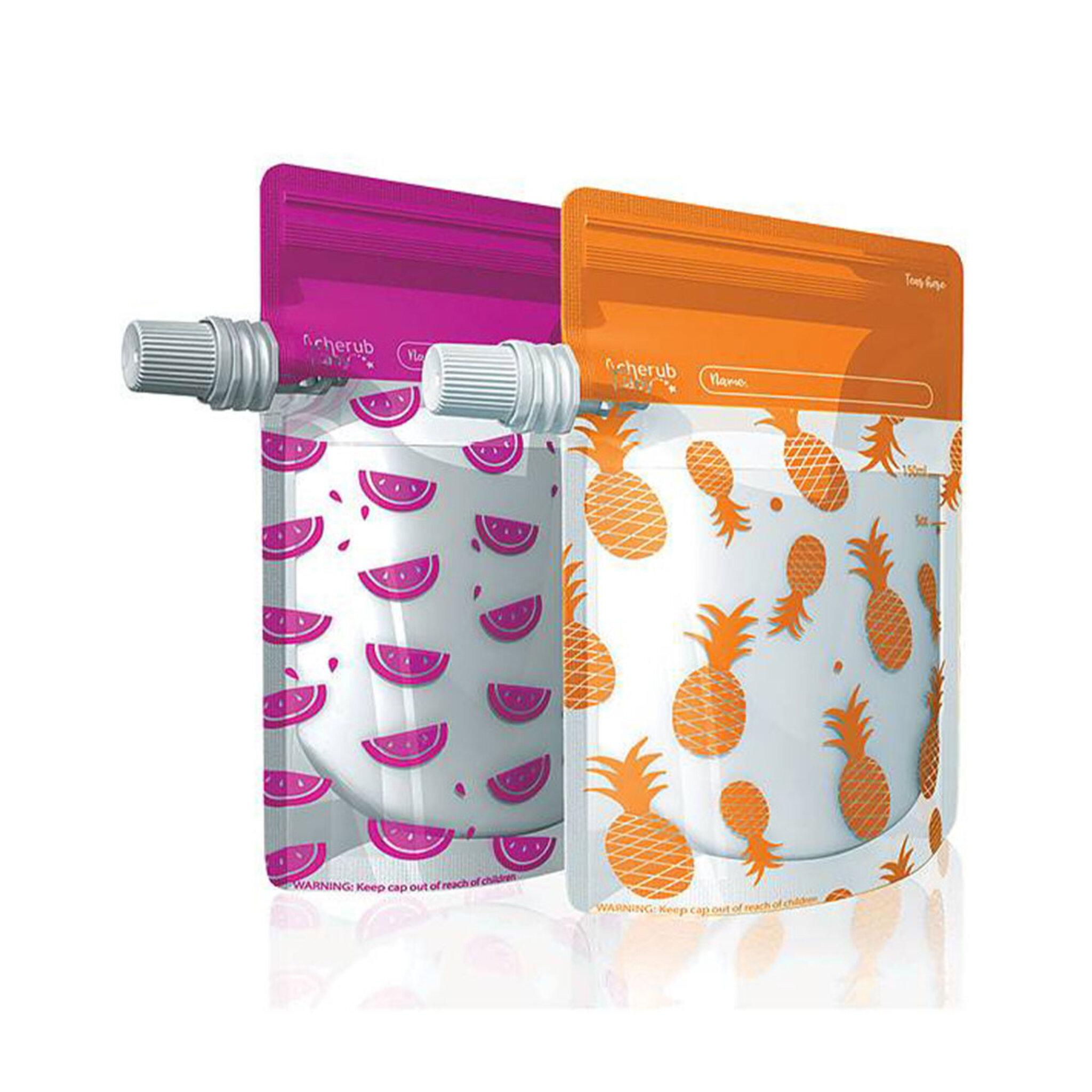 Matpåsar - Rosa/Orange 10-pack