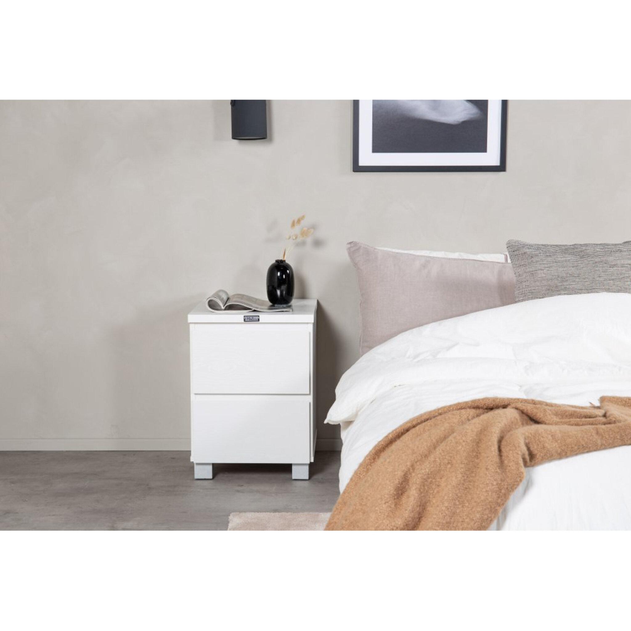 Sängbord Lind 55cm, vit