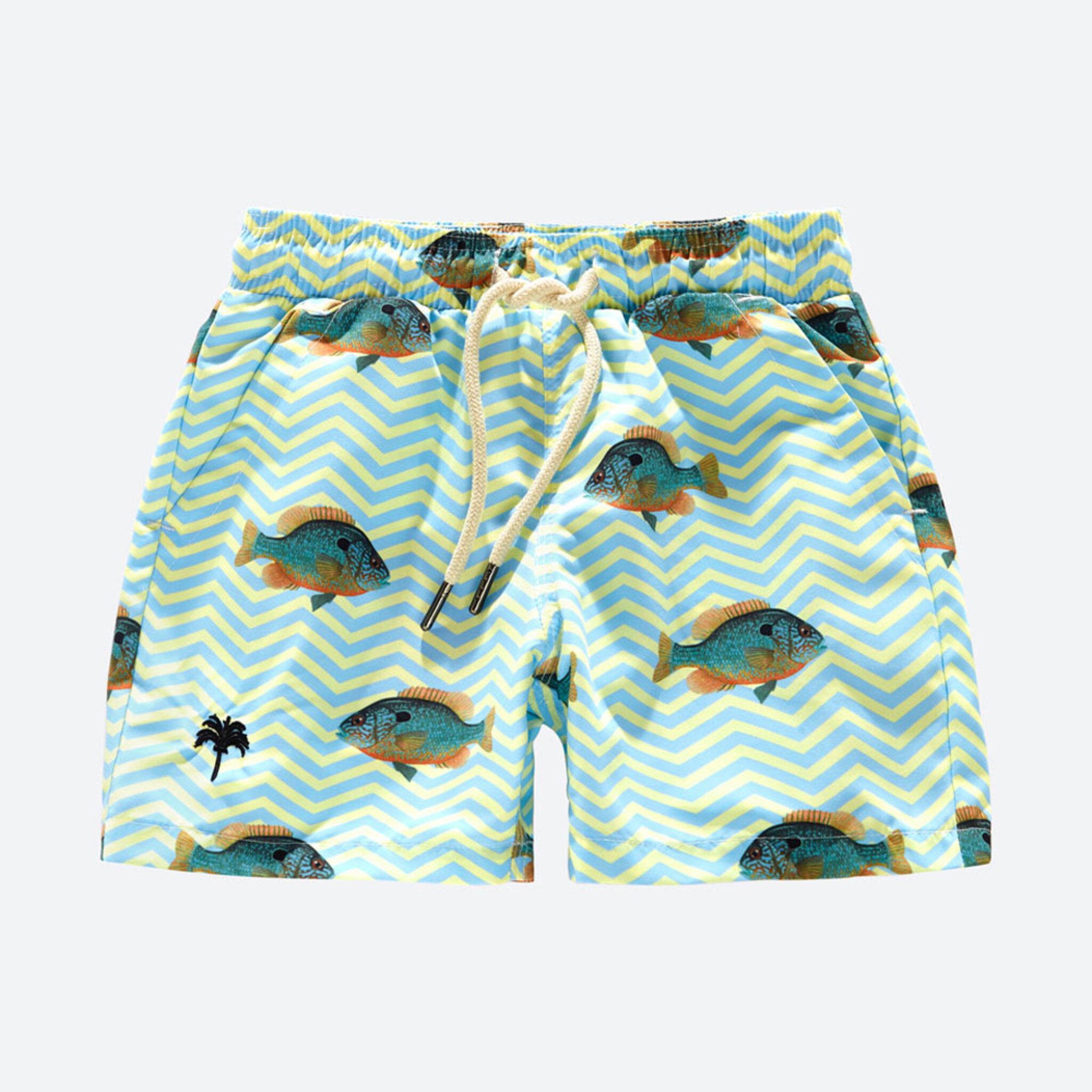Kids Blue Fish Swim Shorts