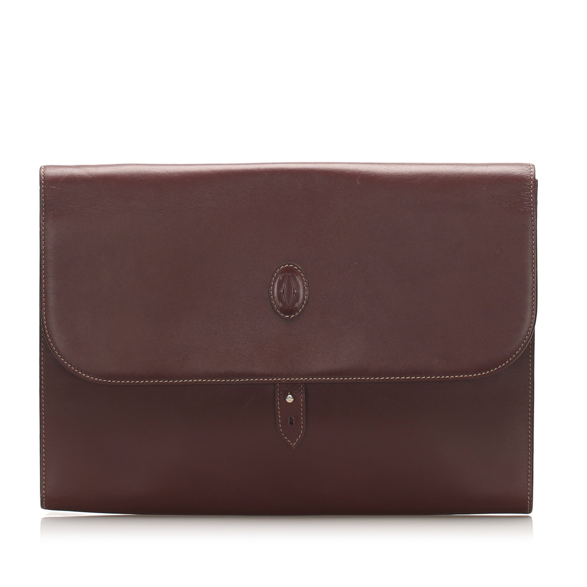 Cartier Must De Cartier Leather Business Bag