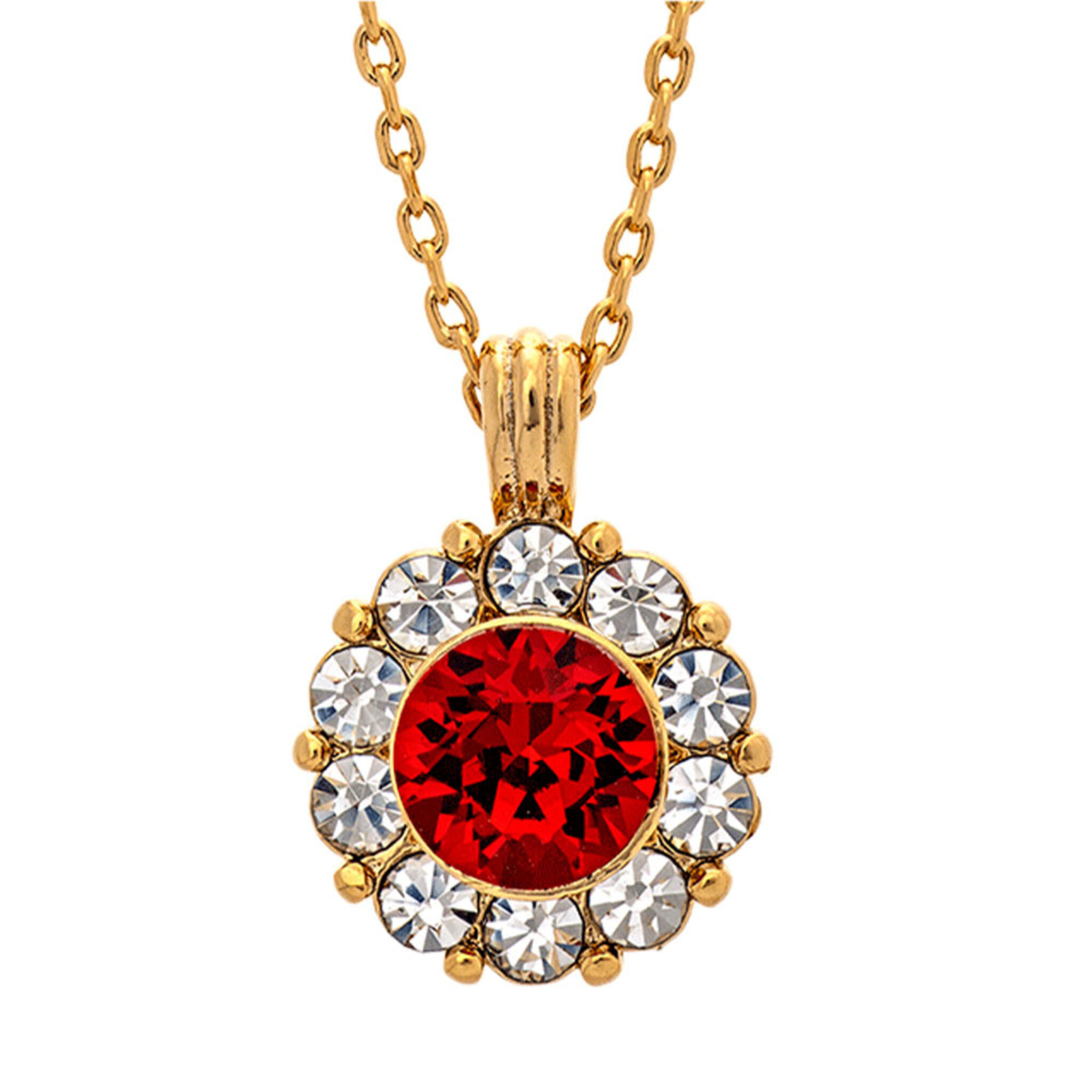 Sofia Necklace - Scarlet Red, ONE SIZE