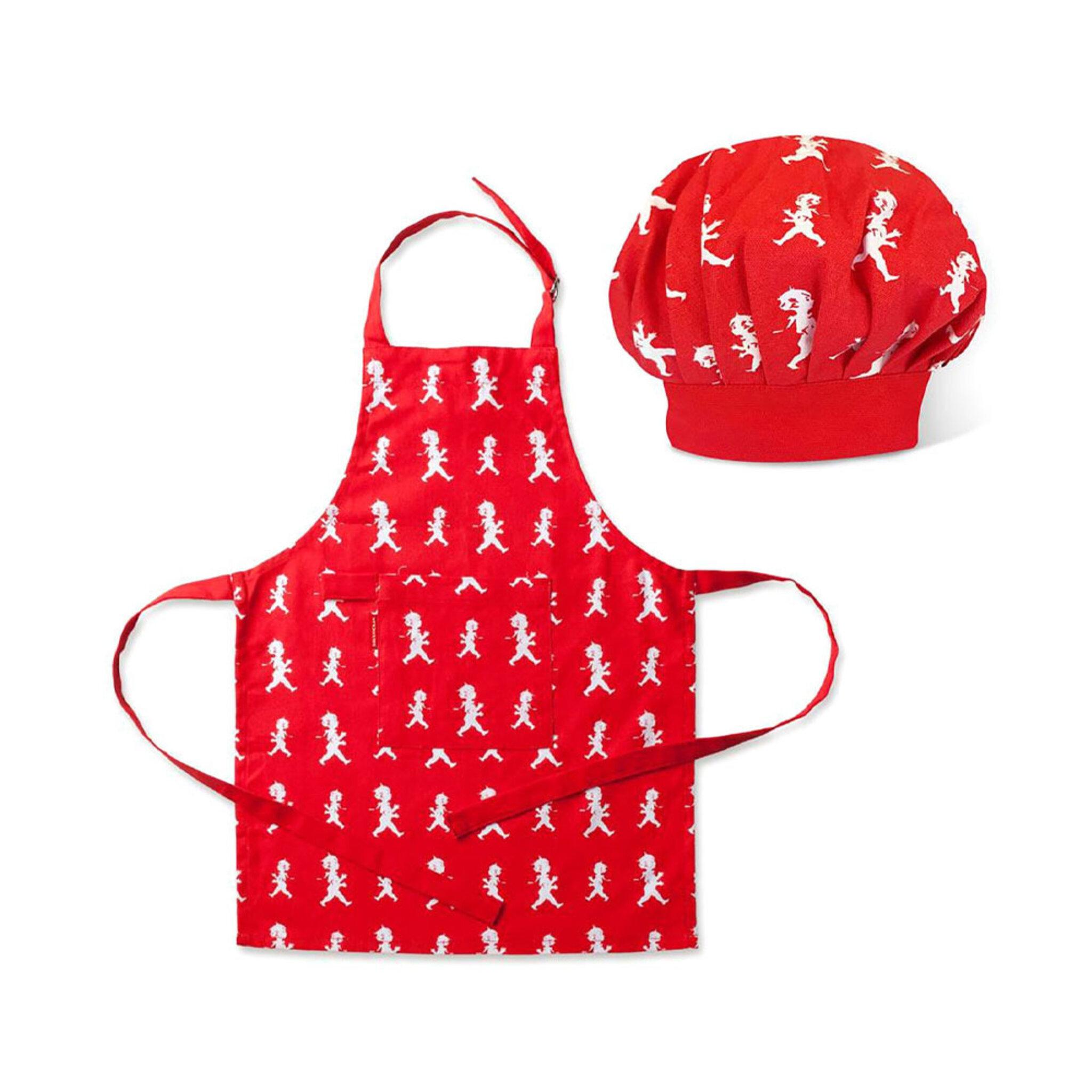 Köksförkläde & Kockmössa barn, 2-6 år