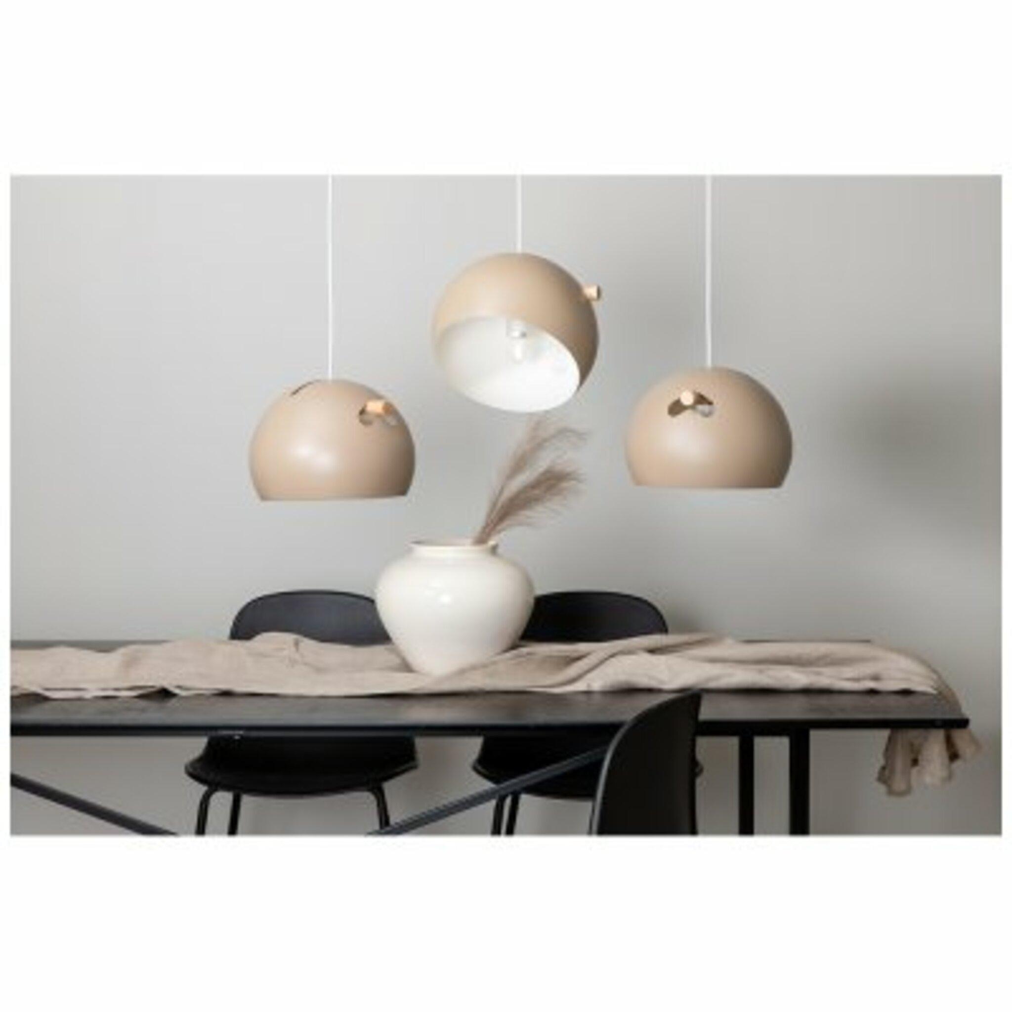 Taklampa Tubbie 97x29x22cm, beige/natur/trä