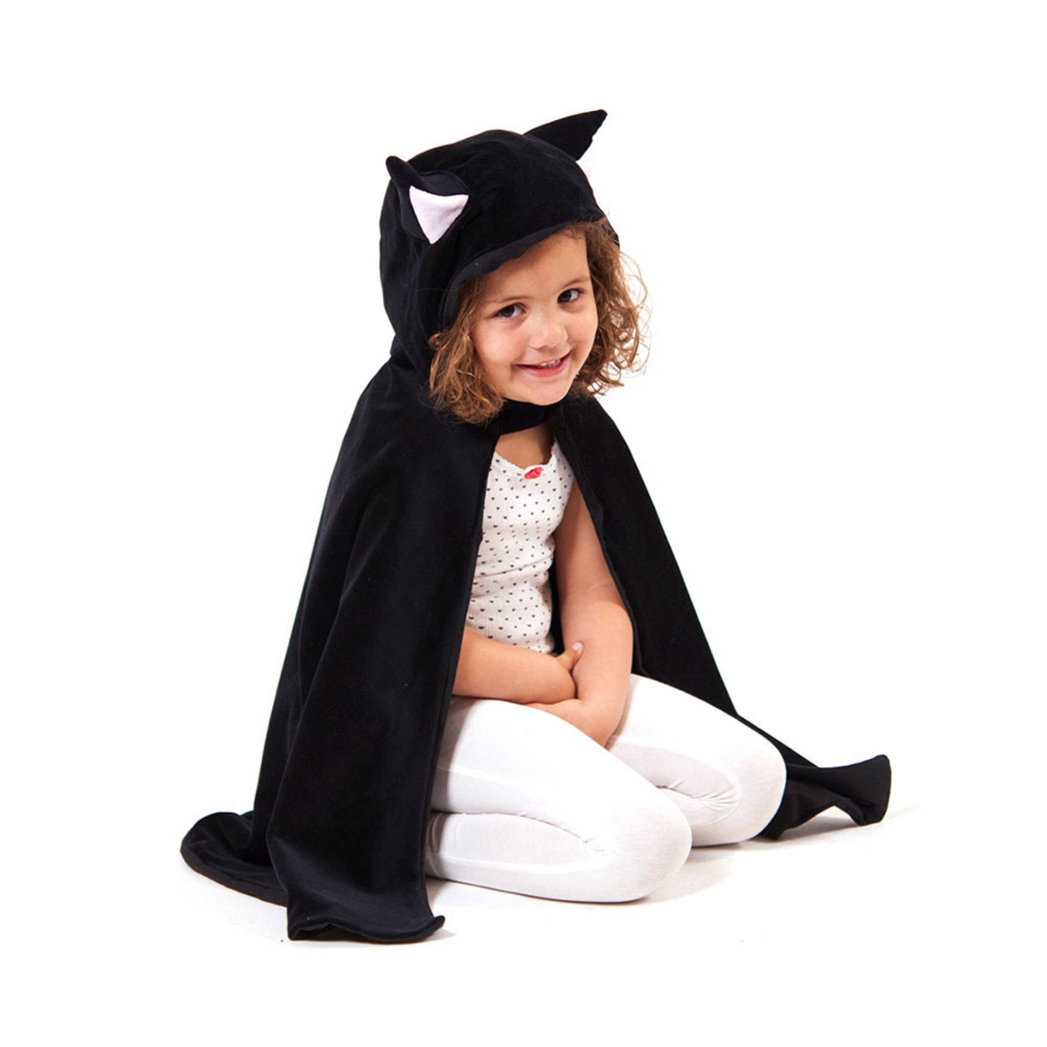 Kattdräkt, cape med huva 3-8 år