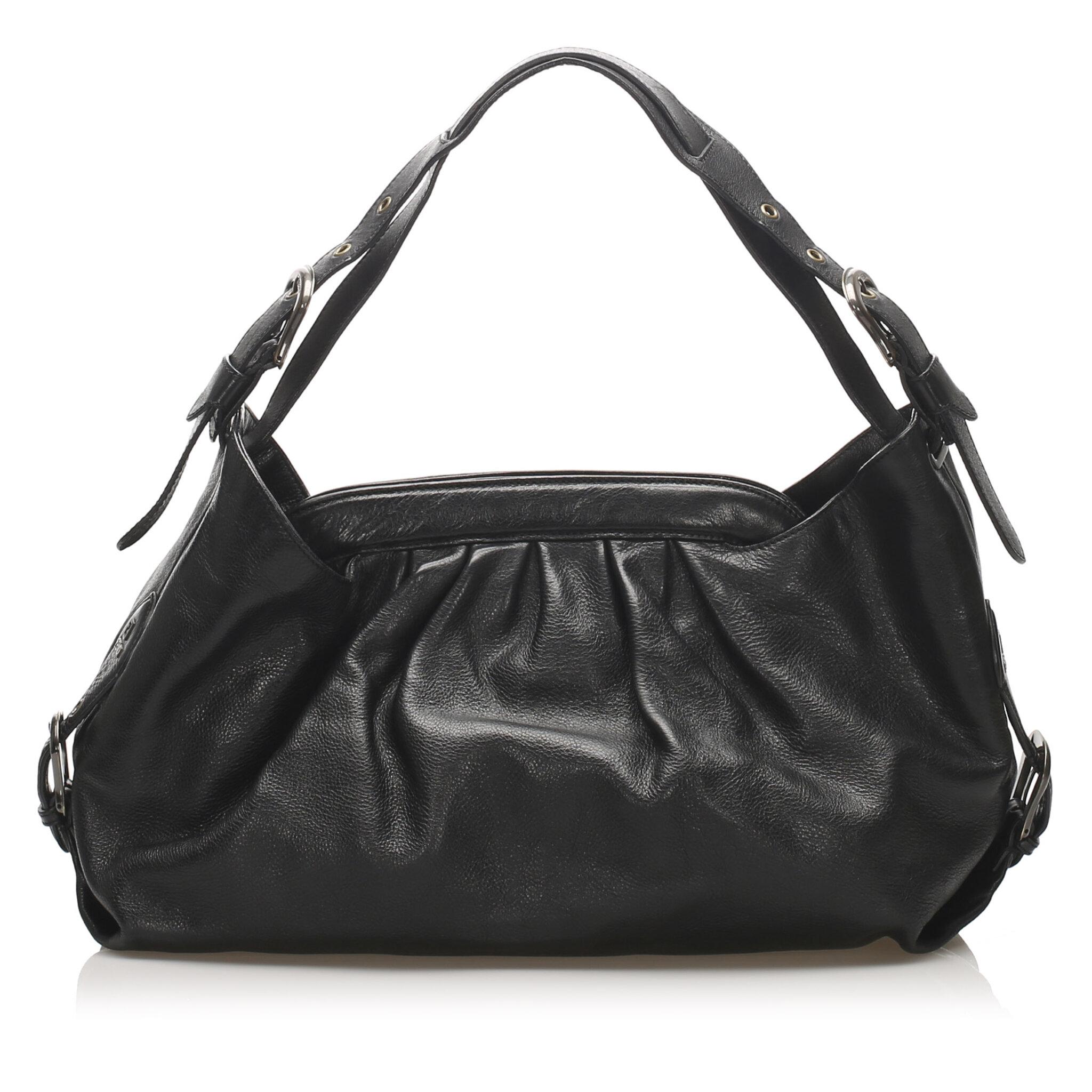 Fendi Doctor B Leather Handbag