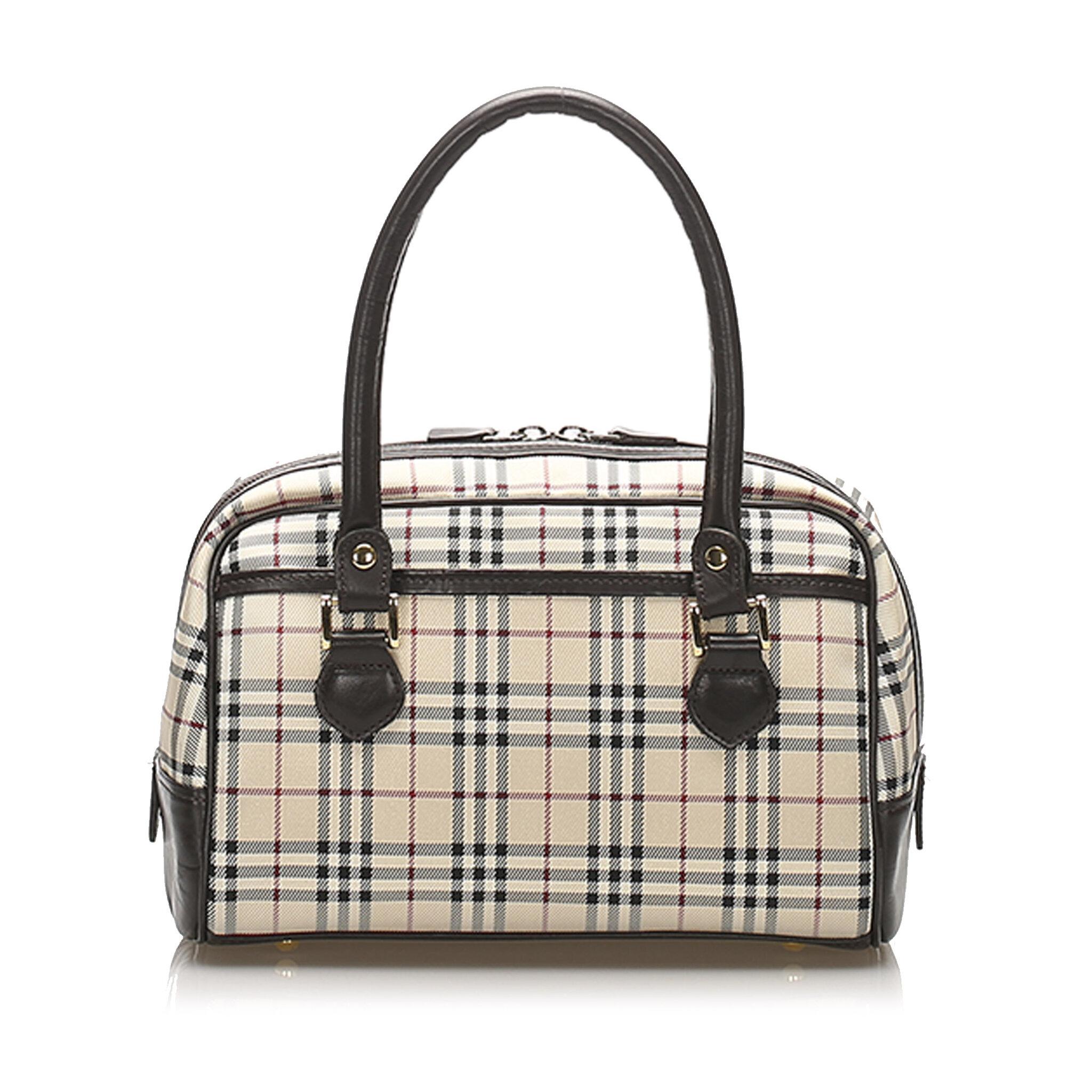 Burberry House Check Nylon Handbag