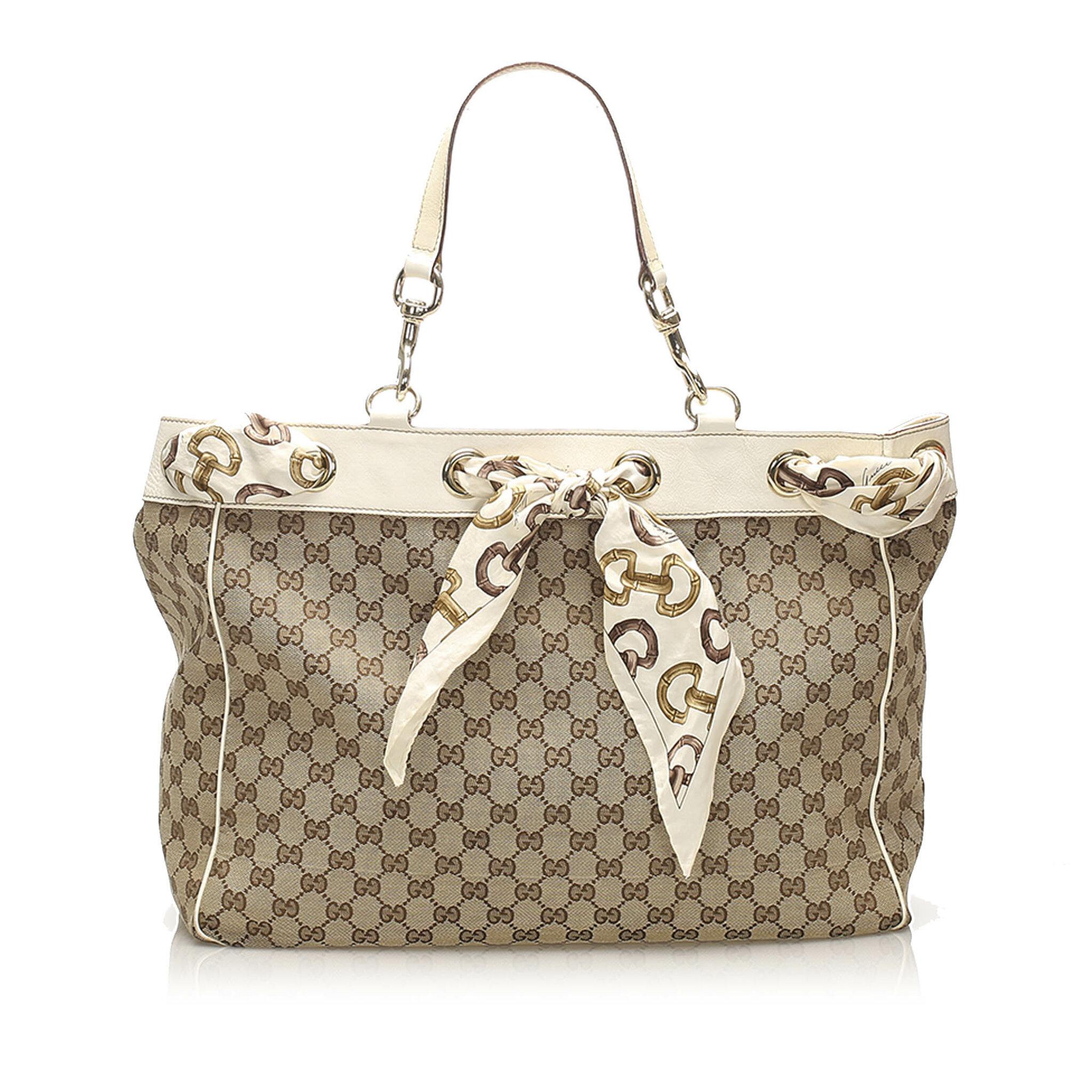 Gucci Gg Canvas Positano Tote Bag