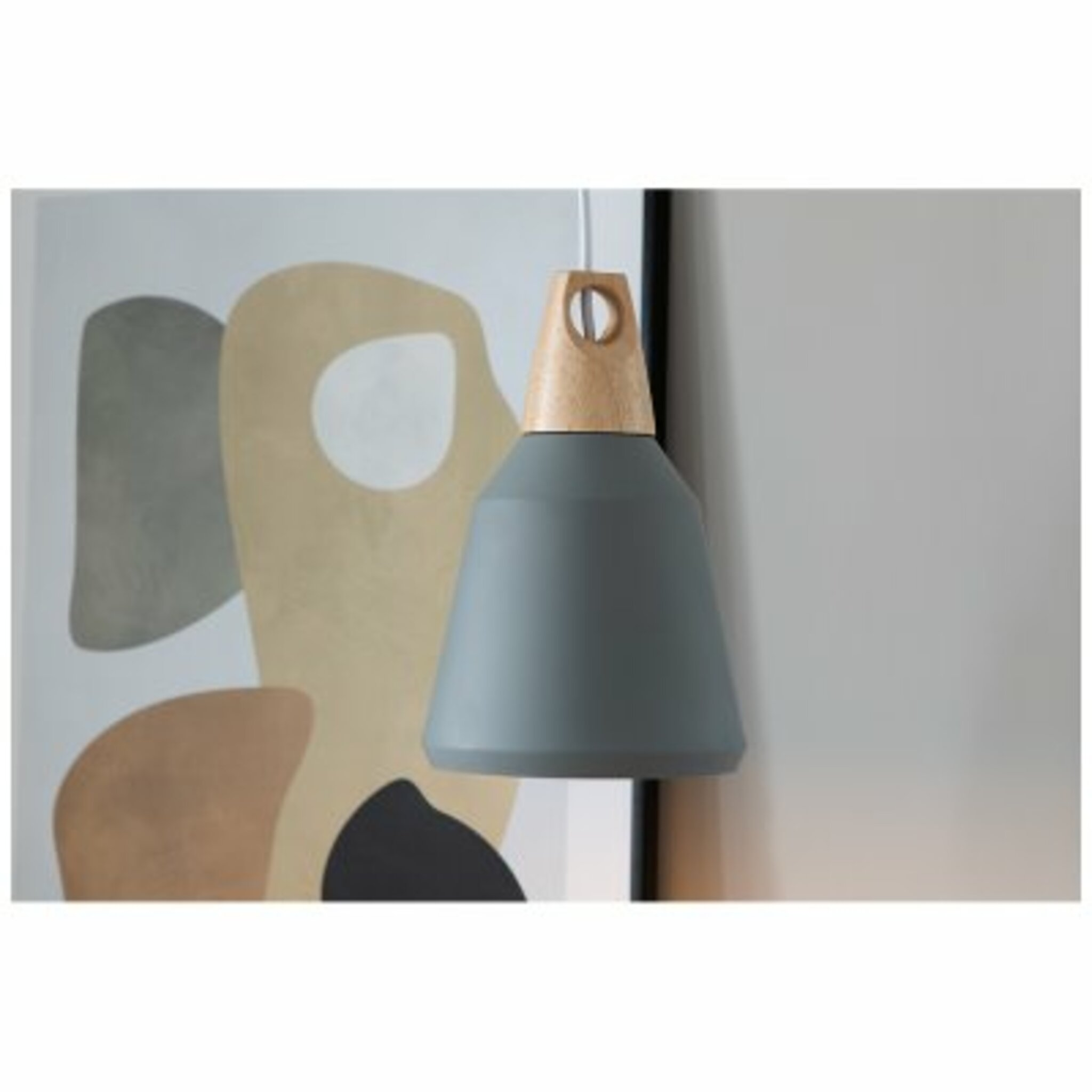 Taklampa Nao 16x25cm,  grå trä/natur
