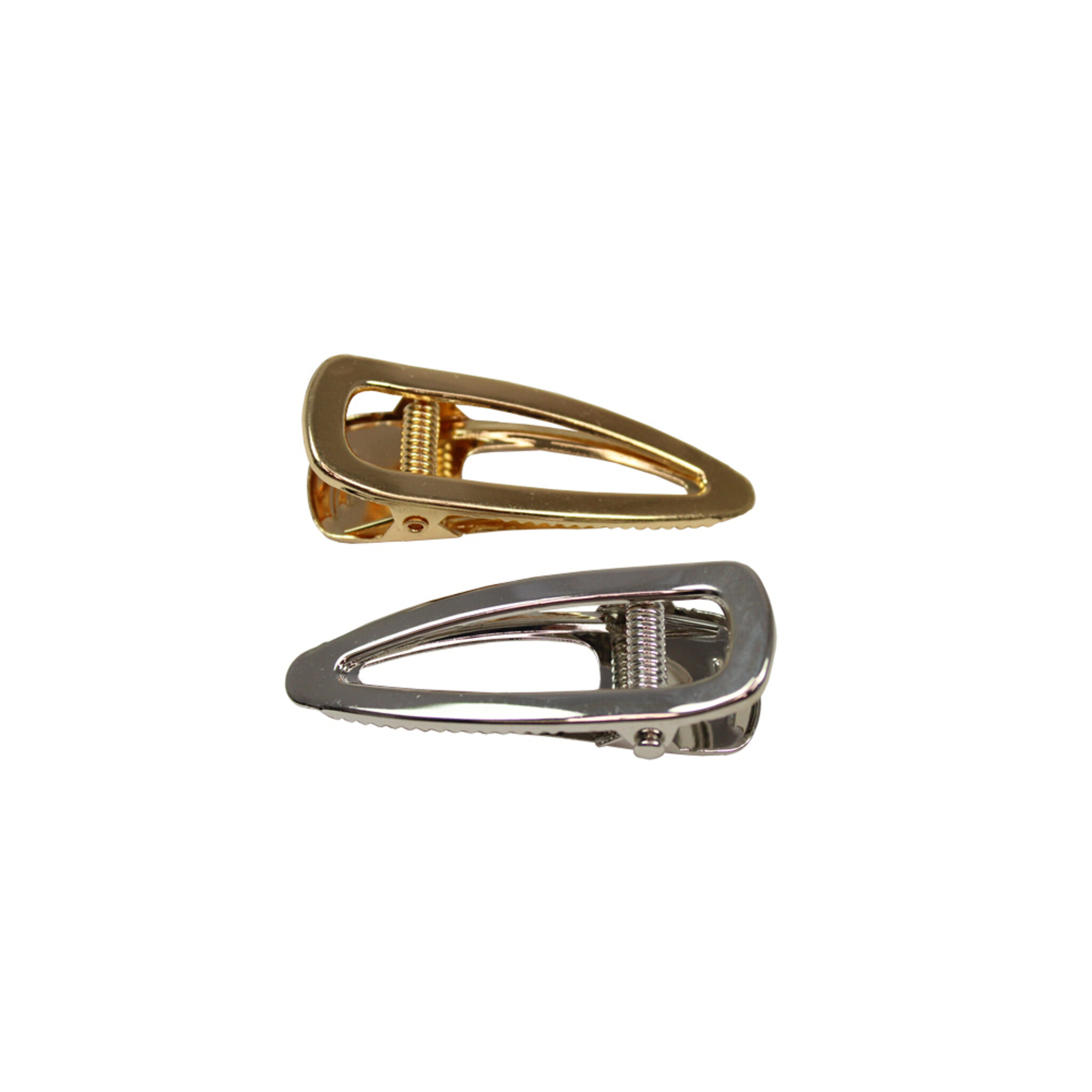 2 pack hårspännen i metall, guld och silver