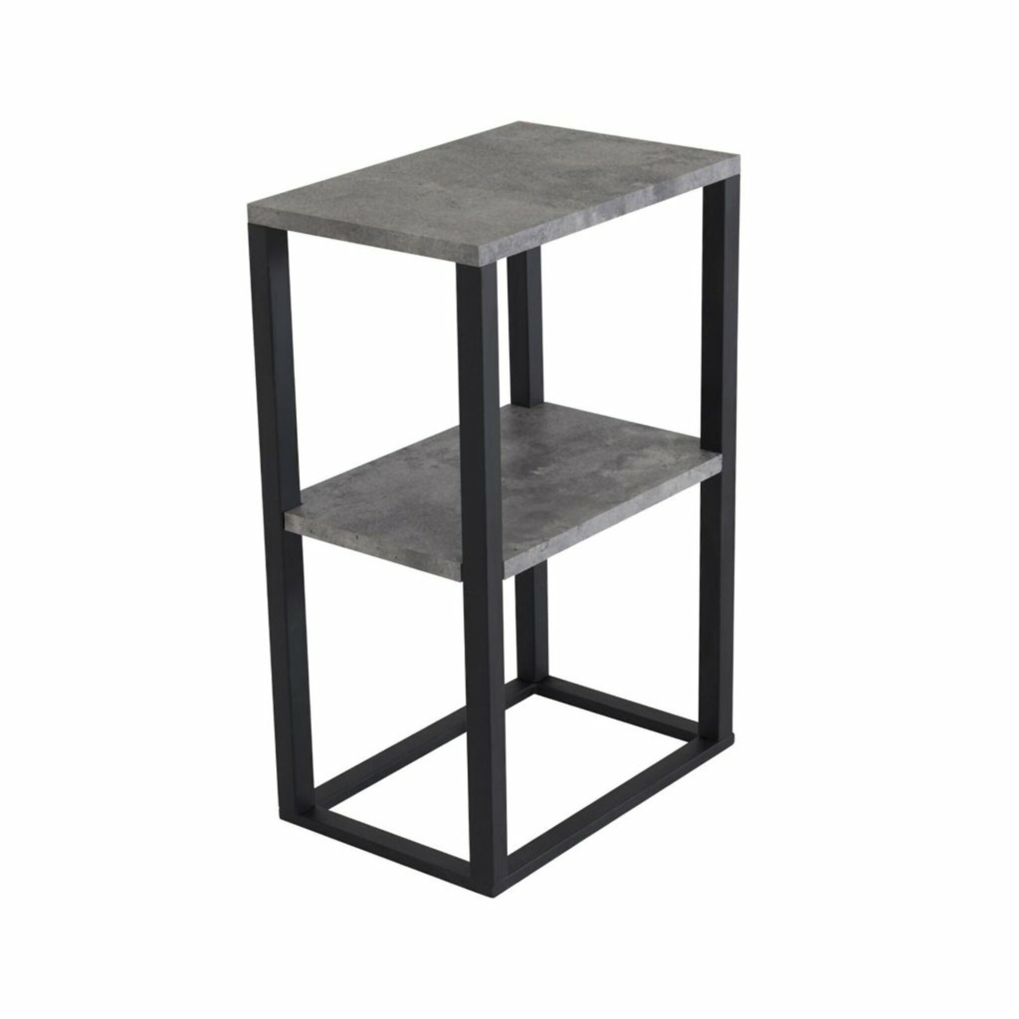 Sängbord Rise 45cm, svart/betong-look