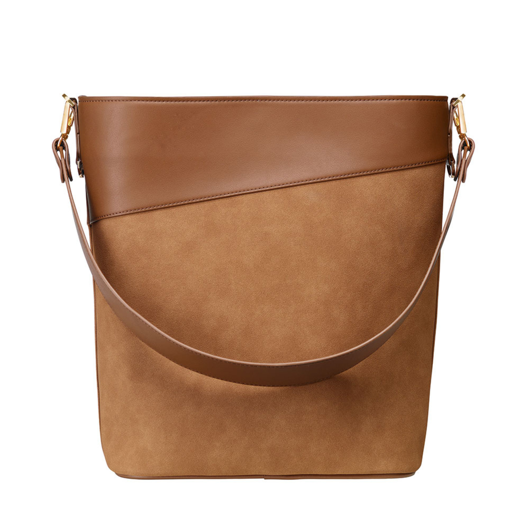 Drew Bucket Bag , konjak