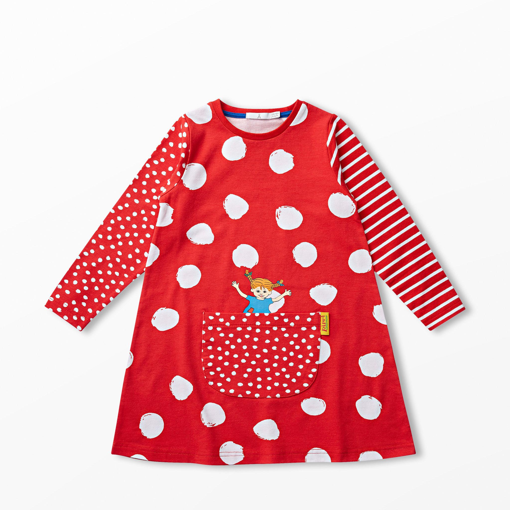 fc1135fbb5a5 Klänning Pippi Långstrump - Barnkläder stl. 86-116 - Köp online på åhlens .se!